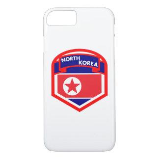 Capa iPhone 8/ 7 Protetor da bandeira da Coreia do Norte