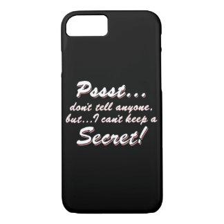 Capa iPhone 8/ 7 Pssst… eu não posso manter um SECRETO (branco)