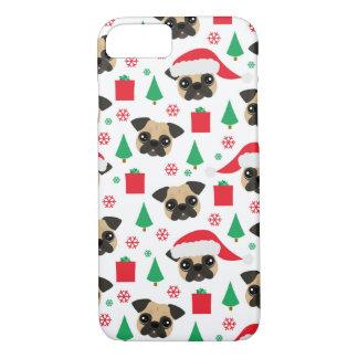 Capa iPhone 8/ 7 Pug bonito do Natal