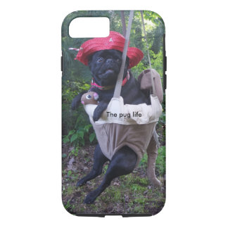 Capa iPhone 8/ 7 Pug do caso do telemóvel