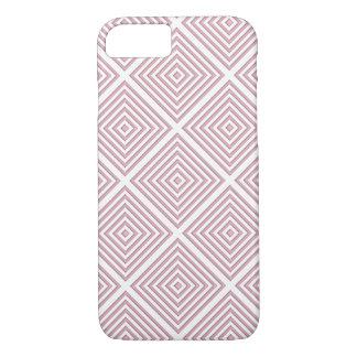 Capa iPhone 8/ 7 Quadrados geométricos cor-de-rosa