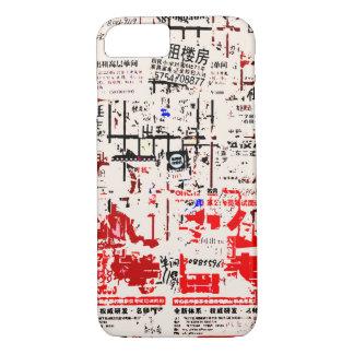 Capa iPhone 8/ 7 Quadro de avisos descascado rasgado estrangeiro