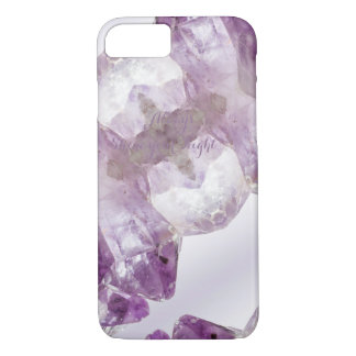 Capa iPhone 8/ 7 Quartzo cristalino de pedra preciosa roxa Amethyst