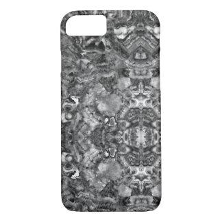 Capa iPhone 8/ 7 quartzo preto e branco abstrato