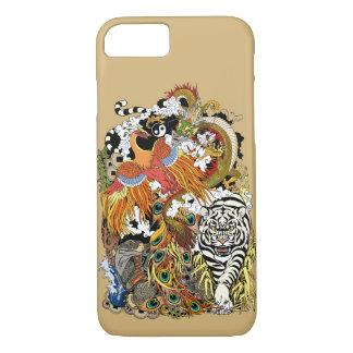 Capa iPhone 8/ 7 quatro animais celestiais