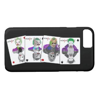 Capa iPhone 8/ 7 Quatro cartões de jogo dos gatos do palhaço da
