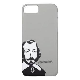 Capa iPhone 8/ 7 Quebeque Samuel de Champlain 1608 Assinatura