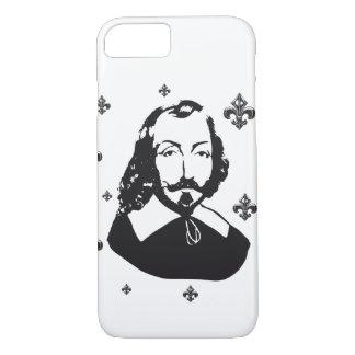 Capa iPhone 8/ 7 Quebeque Samuel de Champlain 1608 Flor de lys
