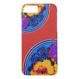 Capa iPhone 8/ 7 Quimono de néon do hibiscus