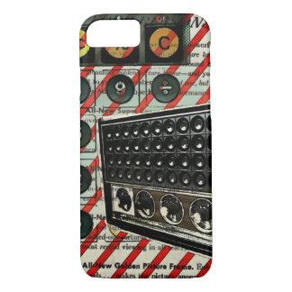 Capa iPhone 8/ 7 Rádio de rádio retro da onda curta do auto-falante
