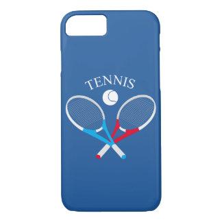 Capa iPhone 8/ 7 Raquetes de tênis e bola de tênis