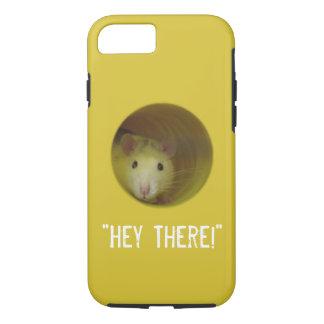 Capa iPhone 8/ 7 Rato bonito no animal engraçado do furo