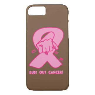 "Capa iPhone 8/ 7 ""Rebente para fora iPhone do cancer"" 8/7 de caso"
