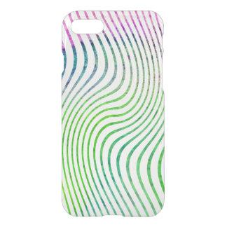 Capa iPhone 8/7 Redemoinho colorido da listra da aguarela