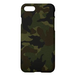 Capa iPhone 8/7 Refrigere a camuflagem verde escuro Zazzle de Camo