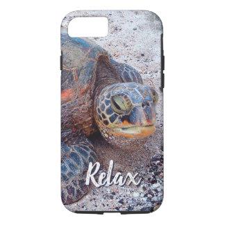 "Capa iPhone 8/ 7 ""Relaxe"" a foto do Fim-acima da tartaruga de mar"