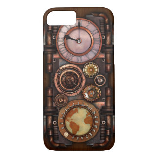 Capa iPhone 8/ 7 Relógio #1 do vintage de Steampunk