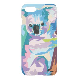 Capa iPhone 8/7 Retrato colorido do Koala do pop art