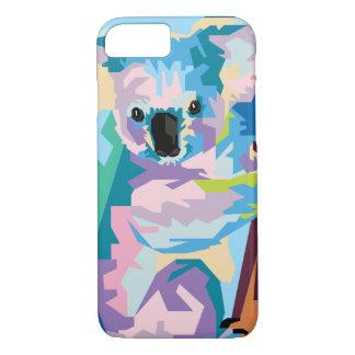 Capa iPhone 8/ 7 Retrato colorido do Koala do pop art