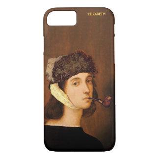 Capa iPhone 8/ 7 Retrato de auto de Raphael com chapéu e tubulação