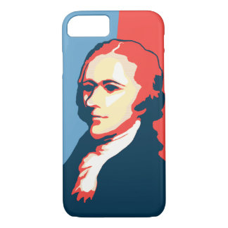 Capa iPhone 8/ 7 Retrato do estilo do poster de Alexander Hamilton