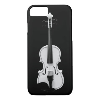 Capa iPhone 8/ 7 Retrato do violino - fotografia preto e branco