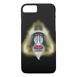 Capa iPhone 8/ 7 Retrato ilustrado do macaco de Mandrill
