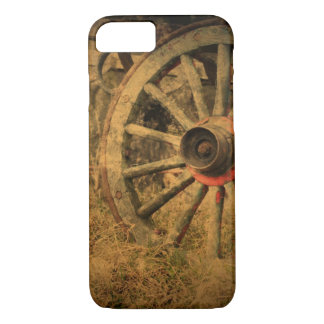 Capa iPhone 8/ 7 Roda de vagão rústica primitiva do país ocidental