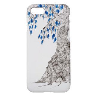 """Capa iPhone 8/7 Rolar o design, """"azul deixa a árvore """""""