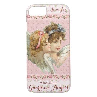 Capa iPhone 8/ 7 Rosa bonito dos anjo-da-guarda feitos sob