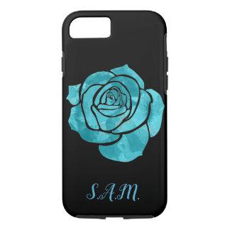 Capa iPhone 8/ 7 Rosa do azul no preto