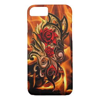 Capa iPhone 8/ 7 rosa do dragão do amor