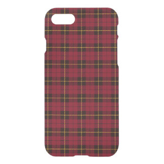 Capa iPhone 8/7 Rosa do outono, com xadrez preta vermelha da