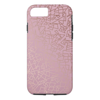 Capa iPhone 8/ 7 Rosa geométrico do teste padrão do ouro