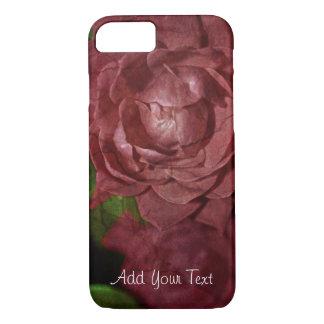 Capa iPhone 8/ 7 Rosa vermelha rachada por Shirley Taylor