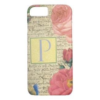 Capa iPhone 8/ 7 Rosas inglesas elegantes