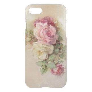 Capa iPhone 8/7 Rosas pintados mão do estilo do vintage