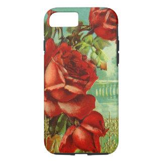 Capa iPhone 8/ 7 Rosas vermelhas do vintage