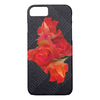 Capa iPhone 8/ 7 Rosas vibrantes no fundo elegante