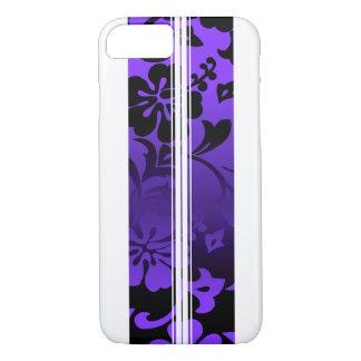 Capa iPhone 8/ 7 Roxo havaiano da prancha da praia dos túneis
