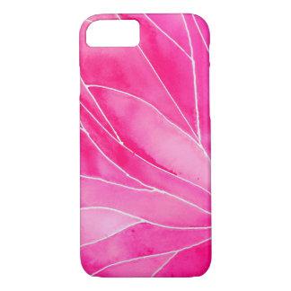 Capa iPhone 8/ 7 Ruptura do Watercolour do rosa quente