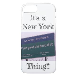 Capa iPhone 8/ 7 Saindo de Brooklyn New York Fuhgeddaboudit