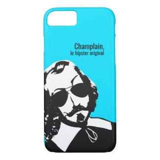 Capa iPhone 8/ 7 Samuel Champlain Hipster texto do futuro+lunetas