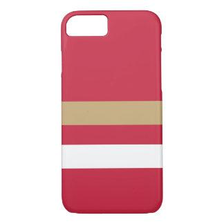Capa iPhone 8/ 7 San Francisco Red&Gold