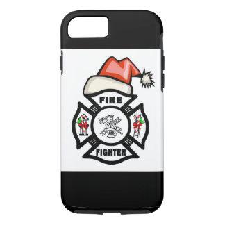 Capa iPhone 8/ 7 Sapador-bombeiro Papai Noel