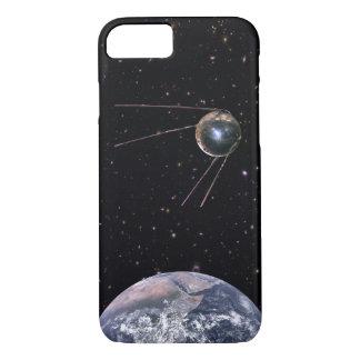 Capa iPhone 8/ 7 Satélite de terra de Sputnik 1