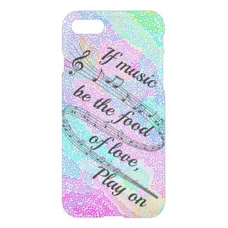 "Capa iPhone 8/7 ""Se a música for a comida do amor"" - Shakespeare"