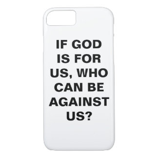 "Capa iPhone 8/ 7 ""Se o deus é para nós…"" iPhone de Apple 8/7 de"