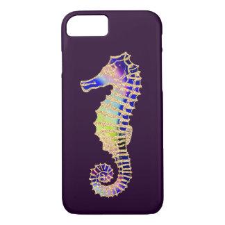 Capa iPhone 8/ 7 Seahorse, Glitter Rainbow ilustração