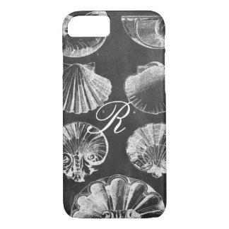 Capa iPhone 8/ 7 seashells botânicos franceses litorais do quadro